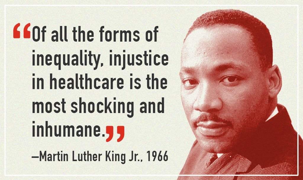 MLK healthcare injustice quotation