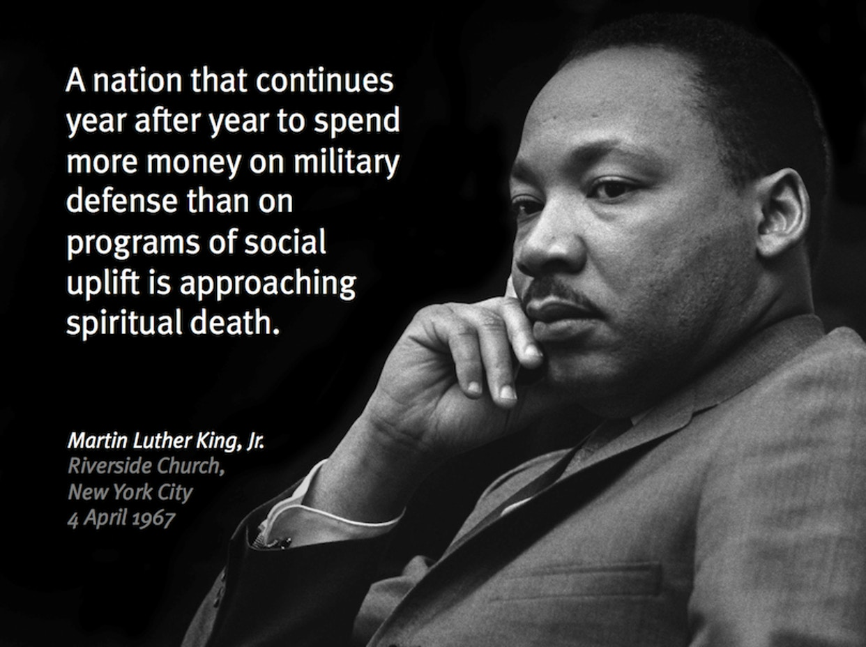 MLK military vs social spending